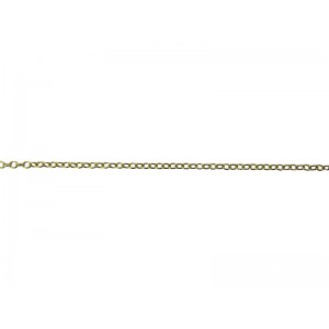 9K Yellow Gold Oval Trace Chain 1.7mm x 2.15mm