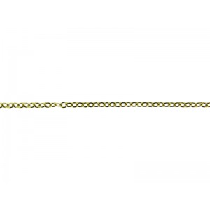 9K Yellow Gold Oval Trace Chain 2.2mm x 2.6mm