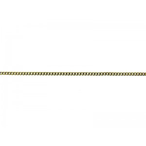 9K Yellow Gold  Curb Chain, 1.2mm wide