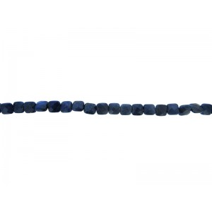 Lapis Lazuli Faceted Square Beads 8mm