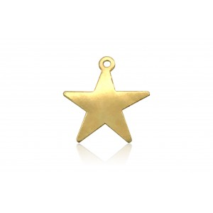 GOLD FILLED FLAT STAR CHARM 2818F