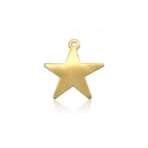 GOLD FILLED FLAT STAR CHARM 2818F