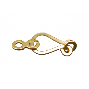 Gold Filled Hook Clasp with figure 8 connector 14mm