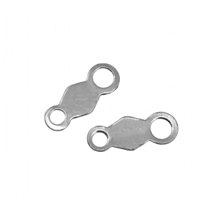 Sterling Silver 925 Chain Tag 3mm x 7.5mm