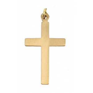 Gold Filled Cross Pendant, 13 x22 mm, 3mm wide Gold Filled Symbols