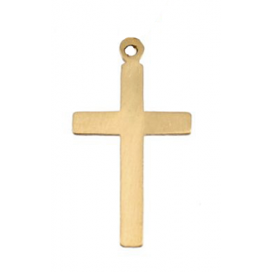 Gold Filled Cross Charm, 8 x 14mm, 2mm wide Gold Filled Symbols