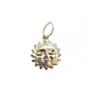 Gold Filled Sun Charm, 8.5mm