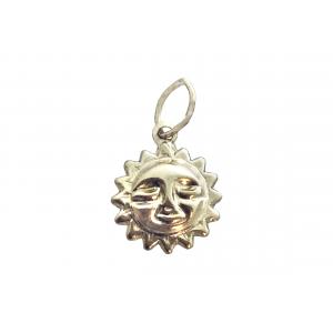 Gold Filled Sun Charm, 8.5mm Gold Filled Symbols