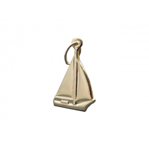 Gold Filled Ship Charm, 10 x 15.5mm, 0.4mm thick