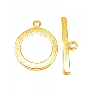 Gold Filled Flat Round Toggle Clasp 20mm