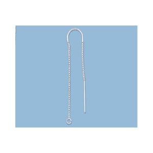 Sterling Silver 925 Threader Earring Center U Box Chain 2 inch