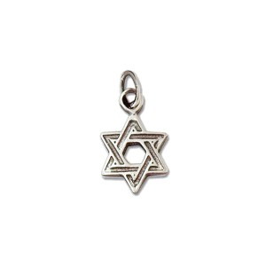 Sterling Silver 925 Charm Star of David 10mm