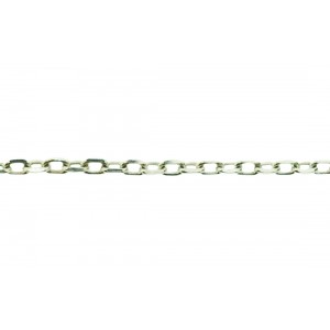 Sterling Silver 925 Faceted FORZATINA Trace Chain, 1.8 mm, wire 0.5 mm