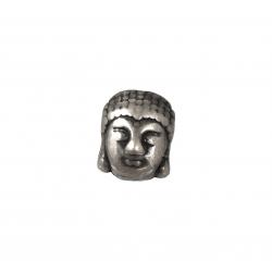 Sterling Silver 925 Buddha head Charm / Bead 8.8mm x 11.4mm