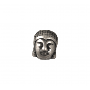 Sterling Silver 925 Buddha head Charm / Bead 8.8mm x 11.4mm