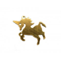Gold Filled Unicorn Charm 14mm x 21mm