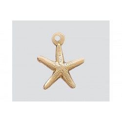 Gold Filled Starfish Charm 8mm
