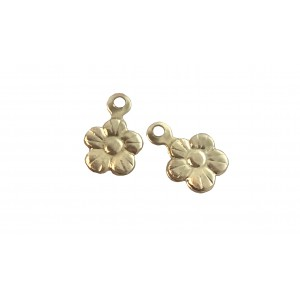 Gold Filled small Flower Charm 6mm