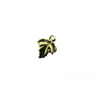 Gold Filled Vine Leaf Charm 7.5mm x 9.6mm