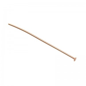 Rose Gold Filled Flat Head Pin 0.5mm x 2''