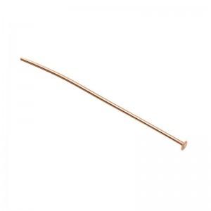 Rose Gold Filled Flat Head Pin 0.5mm x 2''