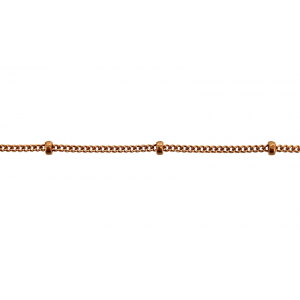 Rose Gold Filled Sattelite Chain 1mm w/1.9mm Ball Gold Filled Ball Chain