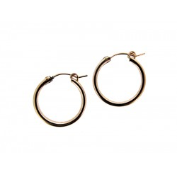 Rose Gold Filled Creole Lever Hoop Earrings 18mm, 2.3mm thickness