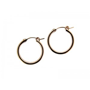 Rose Gold Filled Creole Lever Hoop Earrings 15mm, 2.3mm thickness