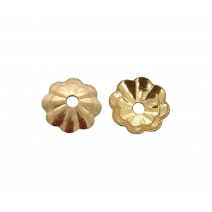 GOLD FILLED FLOWER BEAD CAP 5MM