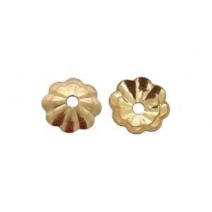 GOLD FILLED FLOWER BEAD CAP 5MM