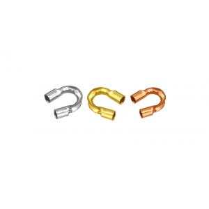 14K Yellow Gold Crimp Covers 3mm
