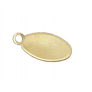 ROSE GOLD FILLED FLAT OVAL TAG 7 X 4.5 MM