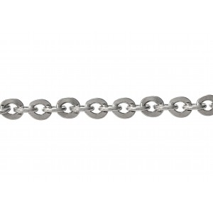S925 EXTRA CHUNKY FLAT OVAL TRACE CHAIN, 1.7x9.5x11mm