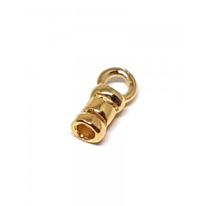 Brass Deep Gold Heavy Plated Crimping End Cap, 1.6mm Gold Filled End Caps, Pendant Bails