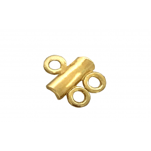 Deep Gold Heavy Plated 1 into 2 Bar Connector