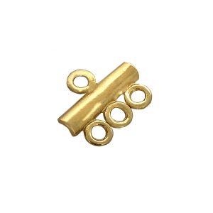 Deep Gold Heavy Plated 1 into 3 Bar Connector Gold Plated Cufflinks, Tie Bars, Pins, Toggles, Clasps