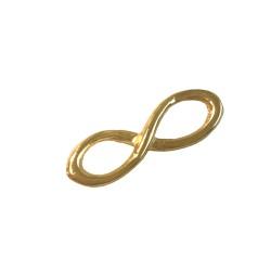 DEEP GOLD PLATE FIGURE OF 8 23X9MM  14579GF
