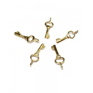 DEEP GOLD PLATE KEY CHARM  11675GF
