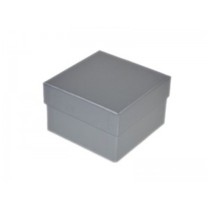 2-PIECE PLAIN SILVER CARDBOARD BANGLE BOX (DEEP), 95x95x61mm