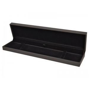 LUXURY SOFT-TOUCH BLACK BRACELET BOX (LONG), 220x55x23mm
