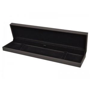 LUXURY SOFT-TOUCH BLACK BRACELET BOX (LONG), 220x55x23mm