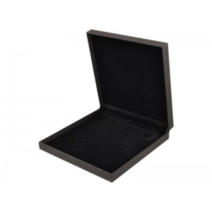 LUXURY SOFT-TOUCH BLACK LARGE NECKLACE BOX, 193x193x38mm