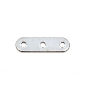 S925 3 HOLE SPACER BAR, 14mm