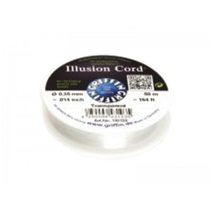 """GRIFFIN ILLUSION CORD 0.35mm (0.014""""), 50 mtrs roll"""
