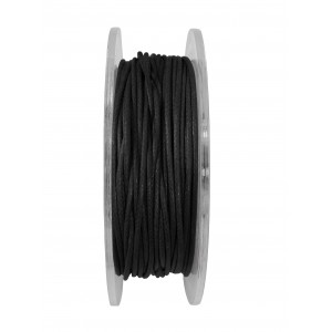GRIFFIN WAXED COTTON CORD REEL, BLACK, 1.0mm x 20 mtrs