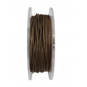 GRIFFIN WAXED COTTON CORD REEL, D. BROWN, 1.0mm x 20 mtrs