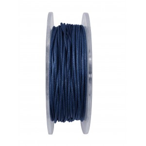 GRIFFIN WAXED COTTON CORD REEL, DARK BLUE, 1.0mm x 20 mtrs