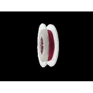Braided Nylon Cord, dark red, 1.5mm, 20m SPOOL
