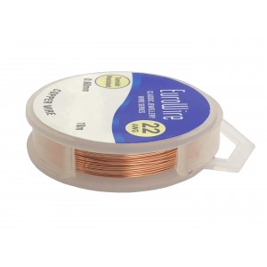 0.6MM COPPER NON TARNISH CRAFT WIRE ON REEL - 10 METERS