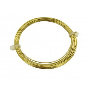 1.25MM NON TARNISH BRASS WIRE COIL - 3 METERS